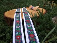 Folklore set - wooden bowtie and braces