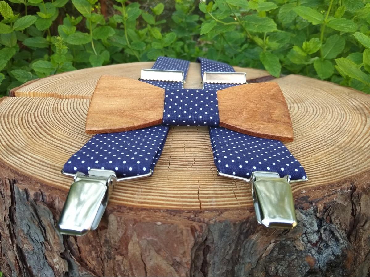 f87aeb273 Pánsky set - drevený motýlik a traky