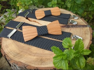 Set daddy and son - wooden nie tie's and braces