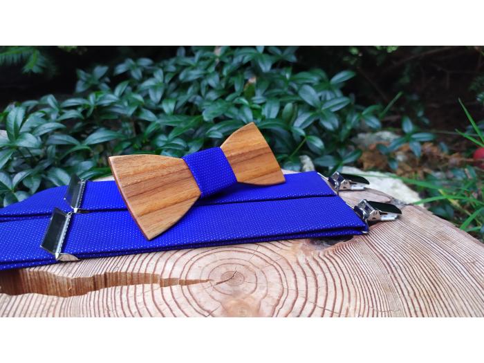 Men's set - wooden bow tie and braces